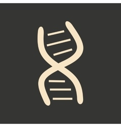Flat in black and white mobile application genes vector