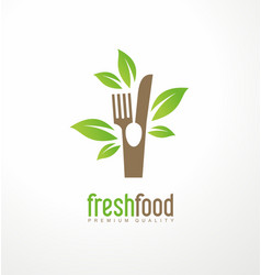 fresh food logo design vector image