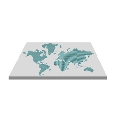 geometric texture world map on board icon vector image