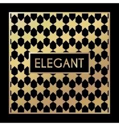 Golden vintage pattern on black background vector