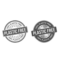 grunge stamp and silver label plastic free vector image