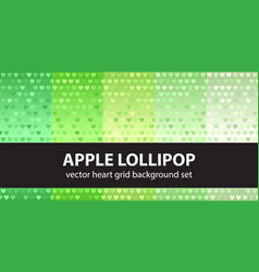 heart pattern set apple lollipop seamless vector image vector image