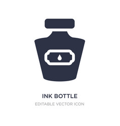 Ink bottle icon on white background simple vector