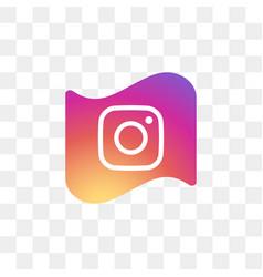 Instagram social media icon design template vector