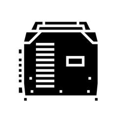 Inverter welding glyph icon vector