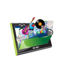 ipad and folder vector image