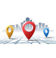 location check road pins vector image