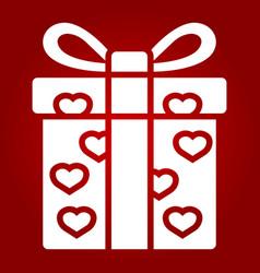 love present glyph icon valentines day vector image