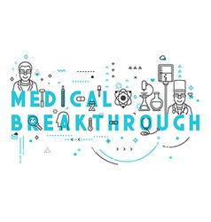 Medicine concept breakthrough vector