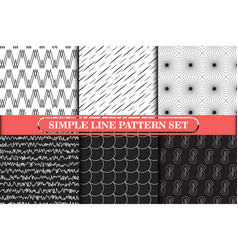 minimalist simple line geometric seamless pattern vector image