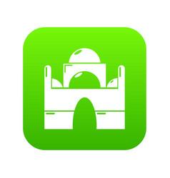 mosque icon green vector image