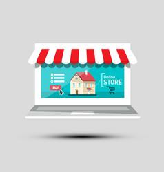 online store symbol virtual shop icon e-shop vector image