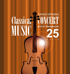 poster for concert of classical music with violin vector image