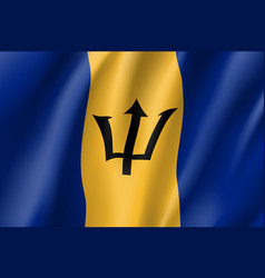 Realistic barbados flag icon vector