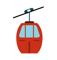 red cable car transport vector image