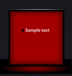 red light box vector image