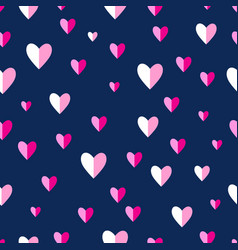 seamless abstract pattern pink hearts vector image