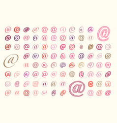 set email symbol monkey or at vector image