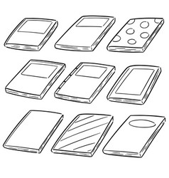 set notebooks vector image