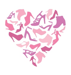 Shoe-Heart vector