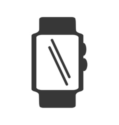 Silhouette smart watch wearable display vector
