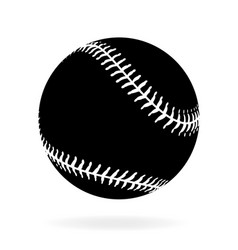 Simple black baseball vector