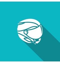 Skiing helmet icon vector image