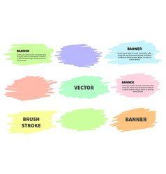 splash banners set colorful brush strokes vector image