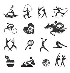 Sport fitness symbols vector