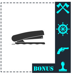 stapler icon flat vector image