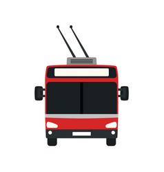 Trolleybus icon vector