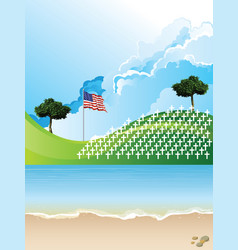 united sates america war graves vector image