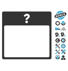 Unknown Day Calendar Page Icon With Bonus vector