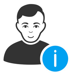 user info icon vector image