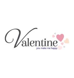 Valentine happy vector