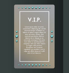Vip party invitation the certificate is decorated vector