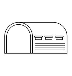 Warehouse icon over vector