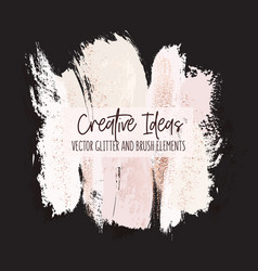 watercolor brush strokes creative template on vector image