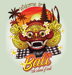 Welcome to bali design vector