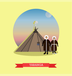 yaranga concept in flat style vector image