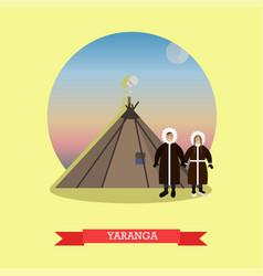 Yaranga concept in flat style vector