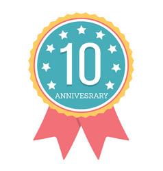 10 years anniversary emblem vector image
