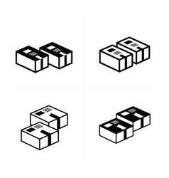box icons set 4 design vector image