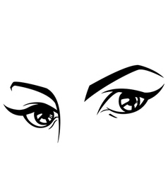 female eyes set three vector image vector image
