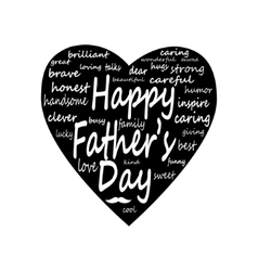 happy father day Big Heart vector image vector image