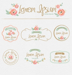 Floral brand and identity design element vector image vector image