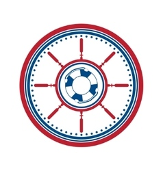 Lifebuoy symbol on white vector image vector image