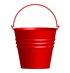 red bucket vector image vector image