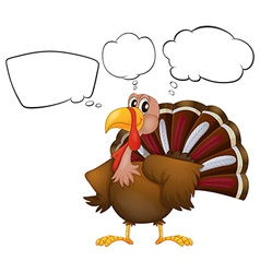 A turkey with empty thoughts vector image vector image