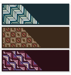 banners with hand drawing ethnic pattern vector image